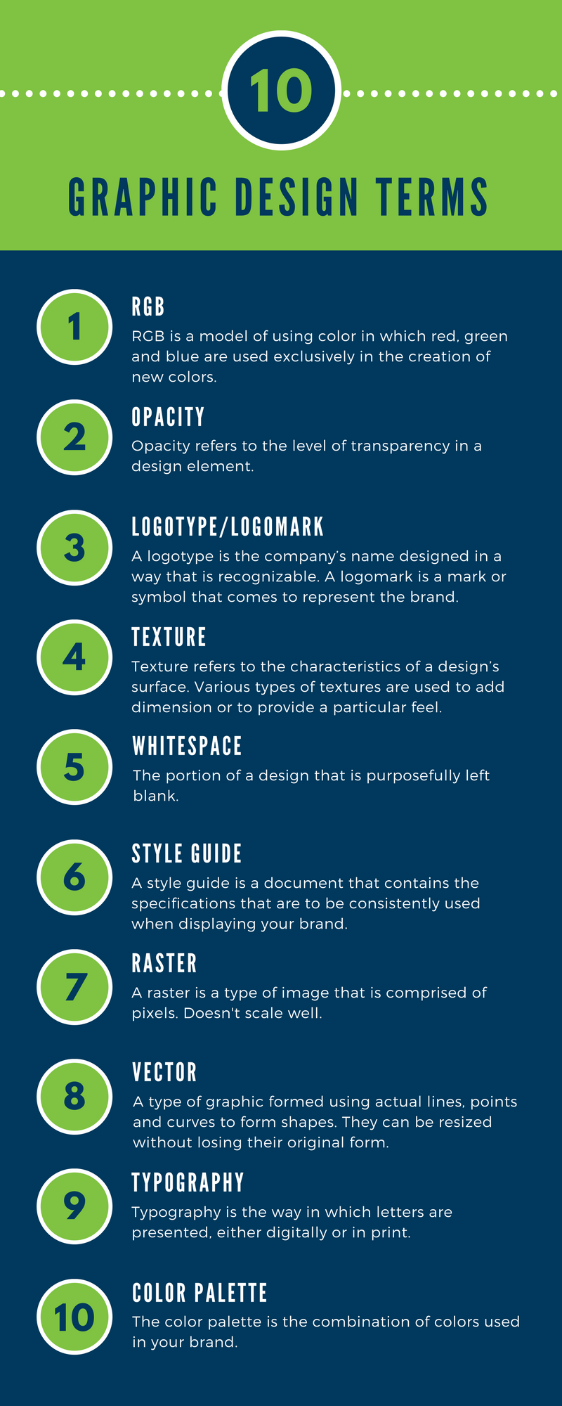Graphic Design Terms Infographic